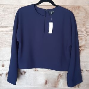 Cropped Long Sleeve Top J.Crew 365 Size 6 NWT